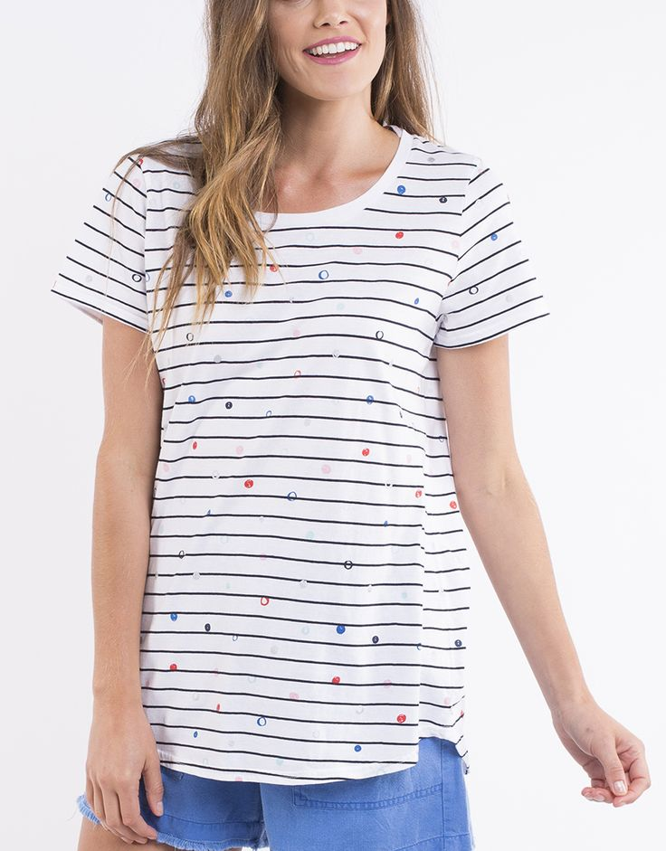 elm - Jewel S/S Stripe