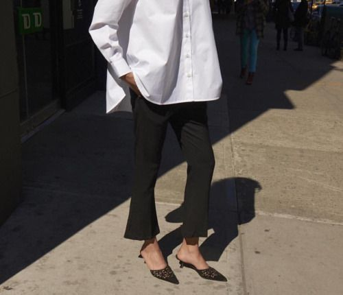 Derlyn in Capri Shirt and Vichy Trousers #goseesNY #toteme