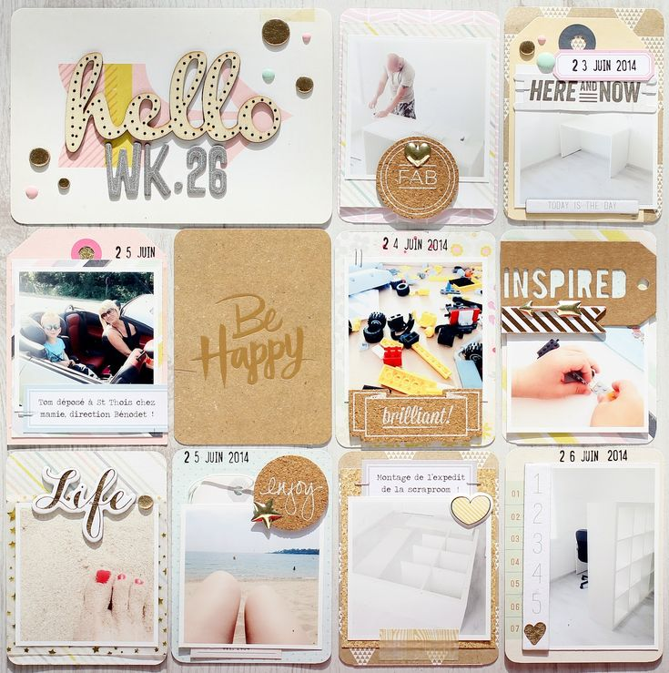 Le scrap d'Amélie: ♥ project life Love the layering of elements!
