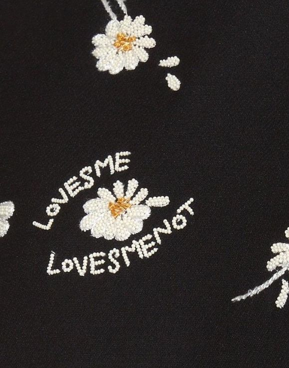 Valentino - french knot embroidery