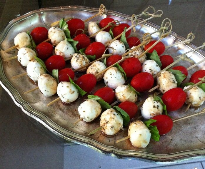 Caprese skewers-Food for the Garden Party