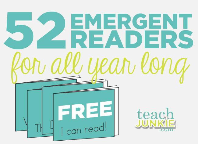 52 FREE, Teacher-created Emergent Readers for All Year Long! This is a blog post that primary teachers won't want to miss!