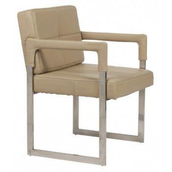 Кресло Aster Chair песочное кожаное