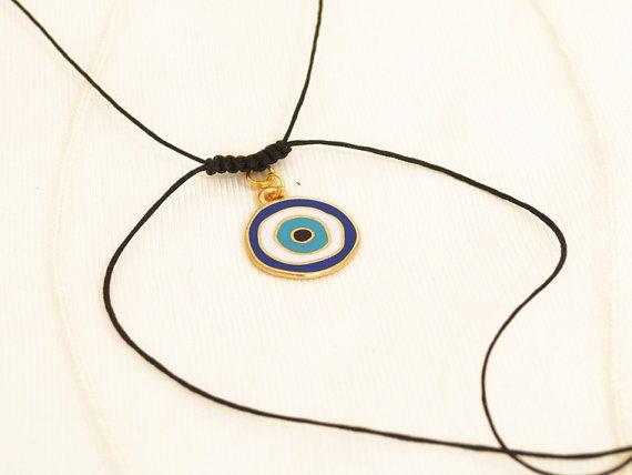 evil eye necklace greek mati blue evil eye by christelboutique