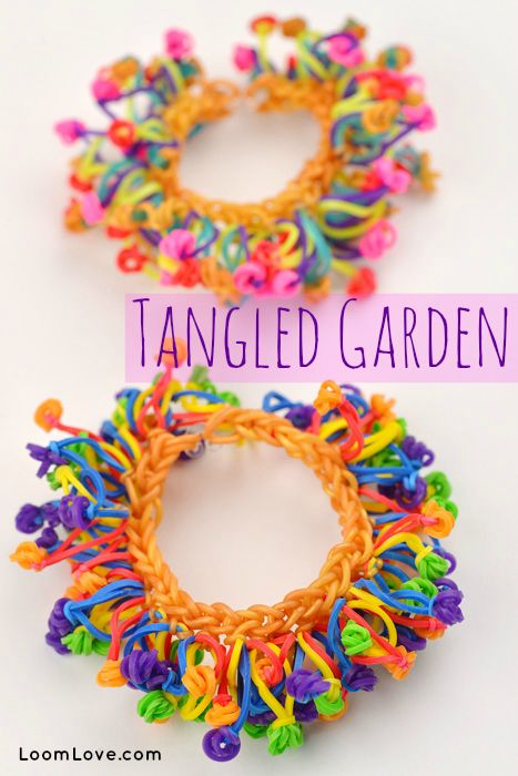 Tangled Garden Bracelet or Anklet (Without a Rainbow Loom!) #rainbowloom