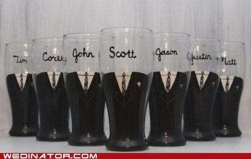 Beers for the boysWedding Parties, Parties Gift, Groomsmen Glasses, Groomsmen Gift, Beer Glasses, Gift Ideas, Cute Ideas, Groomsman Gifts, Wine Glasses