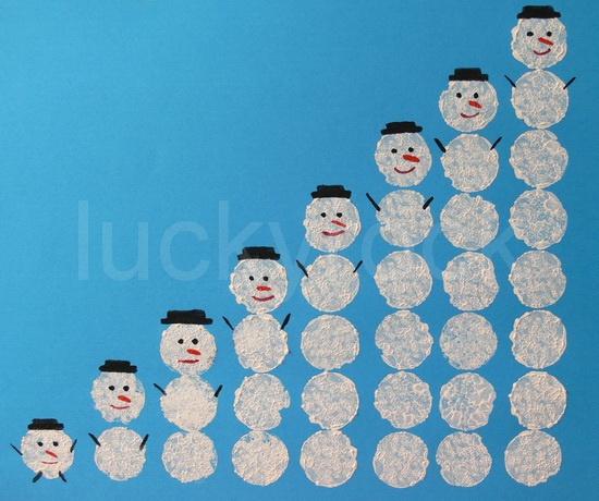 numération avec le bonhomme de neige