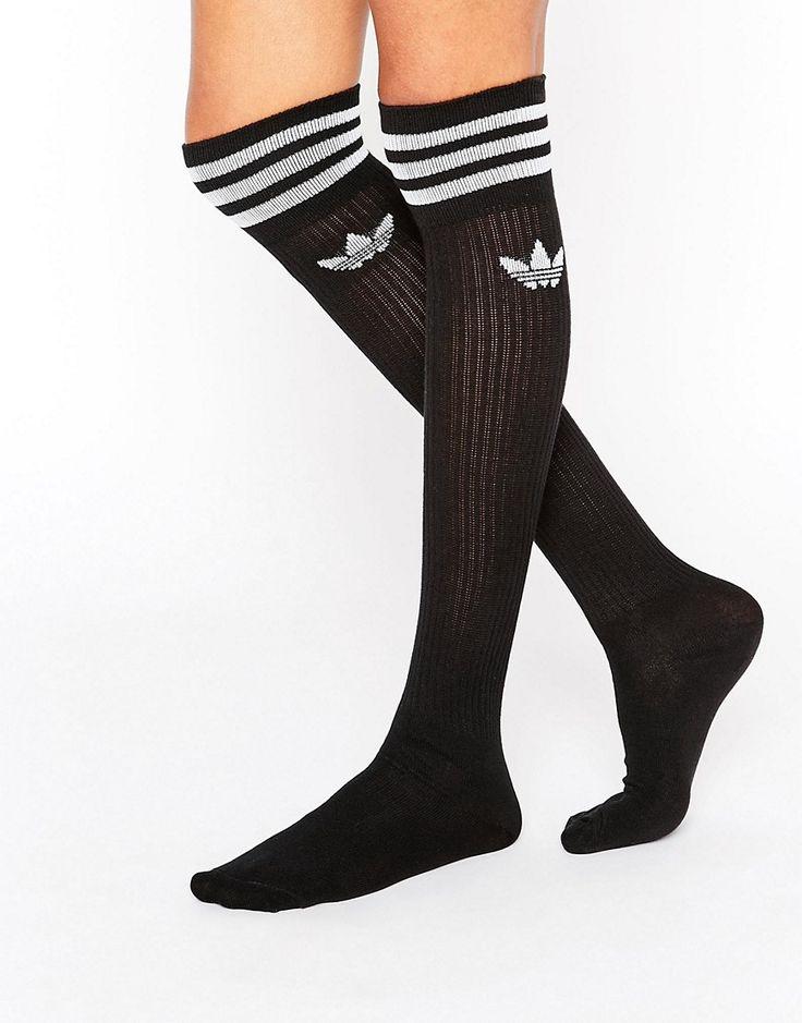 Image 3 of adidas Originals 3 Stripe Knee High Socks
