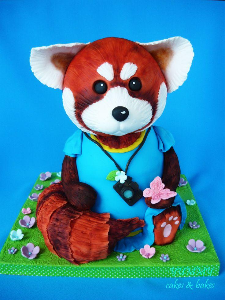 red panda cake panda cakes red cake panda party red pandas cake boss ...