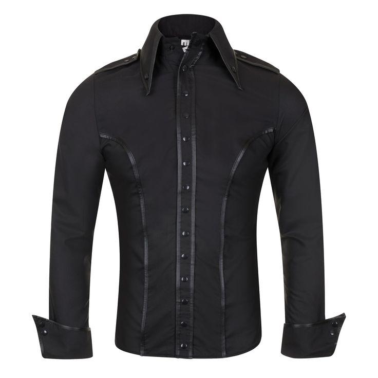 Uniform Hemd mit Epauletten und breiten Manschetten | VOODOOMANIACS