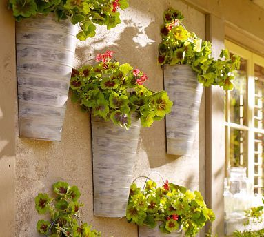 Wall-Mount Galvanized Metal Planter