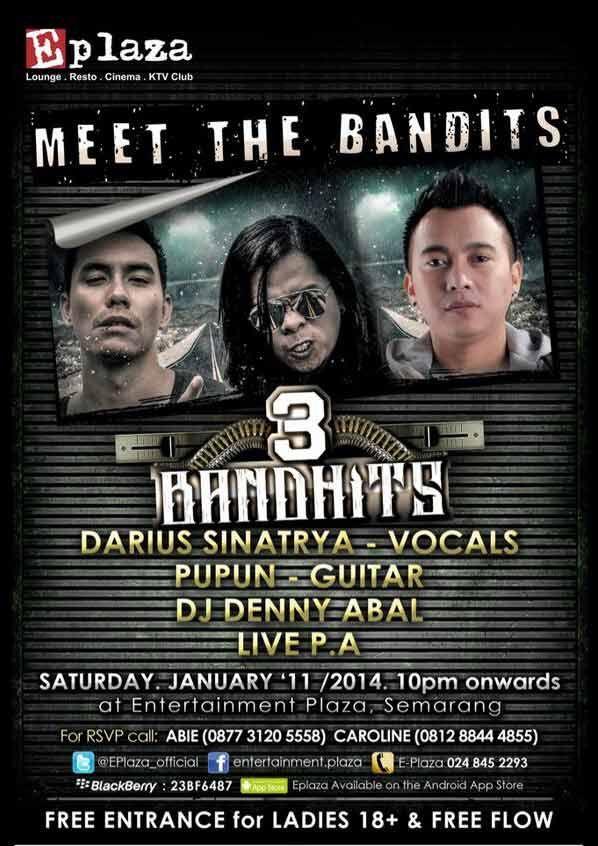 siang ini bingung mau kemana ? datang aja di acara ini.. MEET THE BANDITS @EPlaza_official  DIJAMIN SERU !