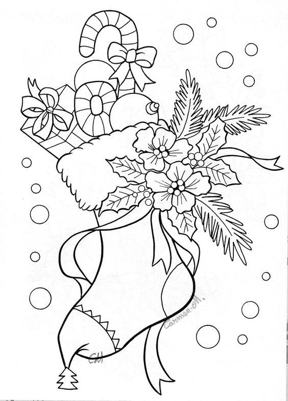 "Coloring pages for adults / previous pinner said ""Vánoce - omalovánka"":"