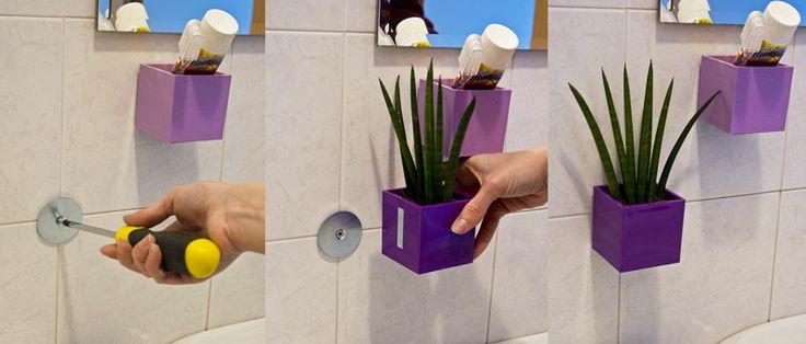 Magnetické květináče můžete pomocí magnetického disku připevnit na zeď (třeba i…