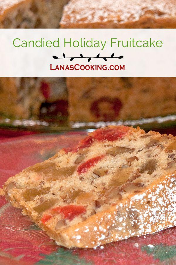 Crystallised fruit in christmas pudding cake