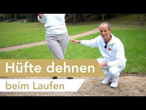 Hüfte dehnen beim Laufen   Walken - Joggen   seitlicher Oberschenkel - YouTube