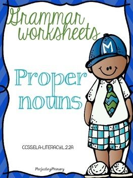No Prep Proper Nouns Worksheets