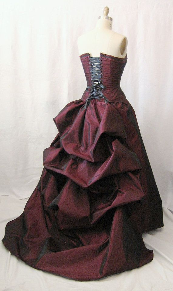 I bought one of these dresses a few years ago. I have performed in it more than 30 times. The only difference is that mine had off the shoulder sleeves. I call it my Christine dress (Phantom of the Opera). Such good quality and beautiful work.  Masquerade Gown-victorian ball- by thesecretboutique