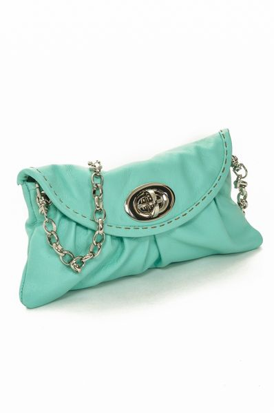 Turquoise Mini Bag with Chain