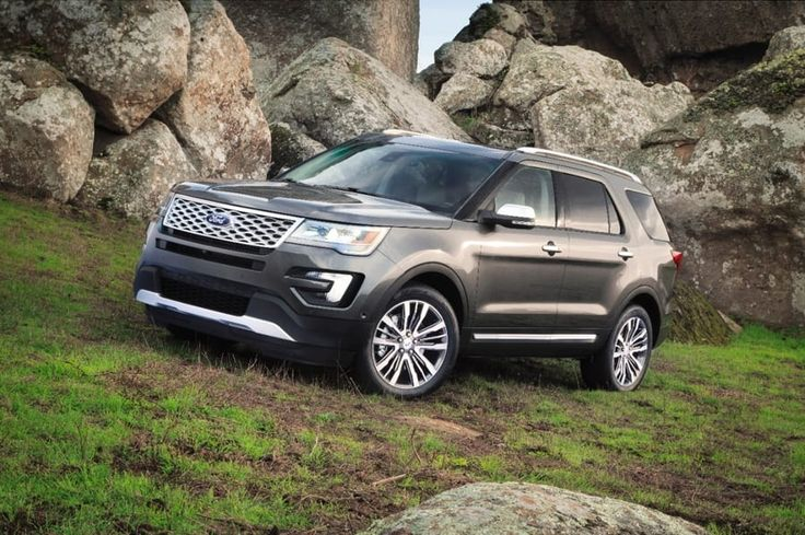 The 2017 #Ford #Explorer is larger than ever before and has that rugged appearance which gets more attention.