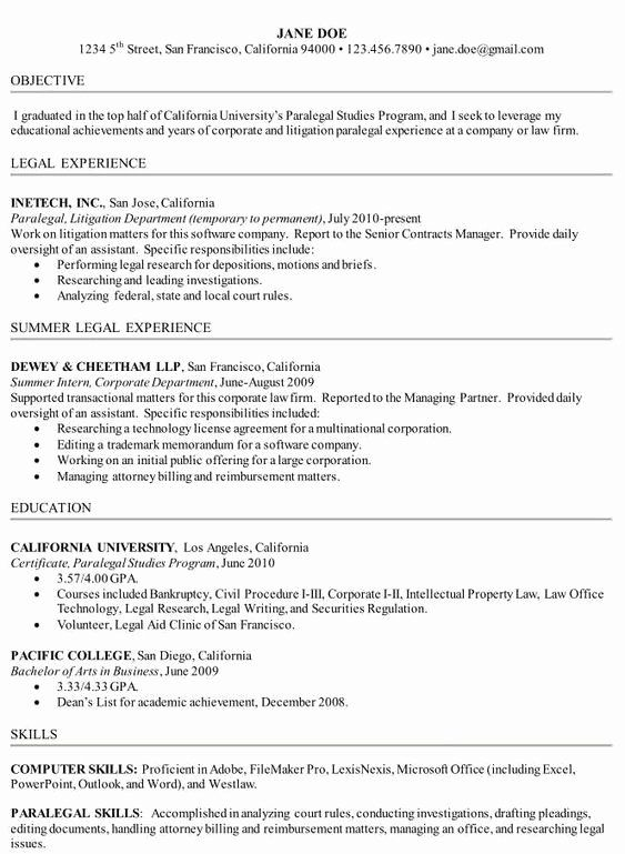 Paralegal Job Description Resume Beautiful How To Write A