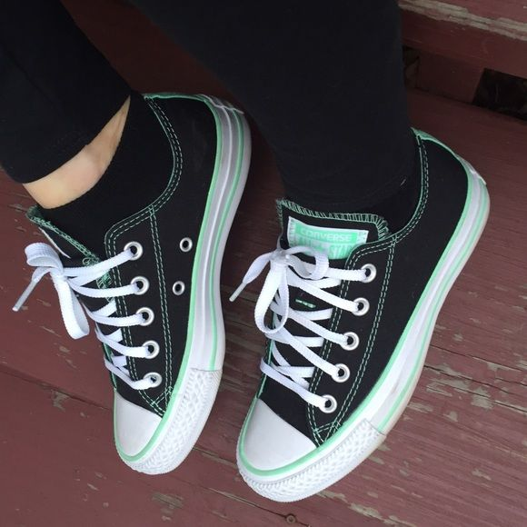 Mint black and white Chuck Taylor's NEW Brand new mint black and white Chuck Taylor's. Size 5 women's. Fits like a 5.5. So cute for spring. Converse Shoes Sneakers