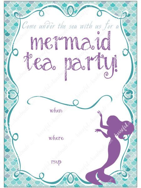Lots Of Great Ideas On How To Throw A Mermaid Tea Party With Free Printables From Houseful Handmade Birthday