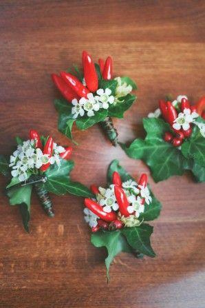 Matrimonio rosso peperoncino con erbe aromatiche