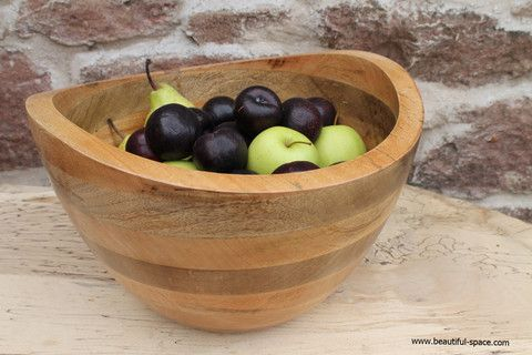Kitchen - Sarisha Mango Wood Bowl – Beautiful Space Interior Design