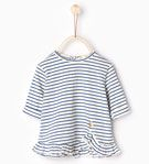 Frilled striped top - TOPS - MINI | 0 - 12 months - KIDS | ZARA United States