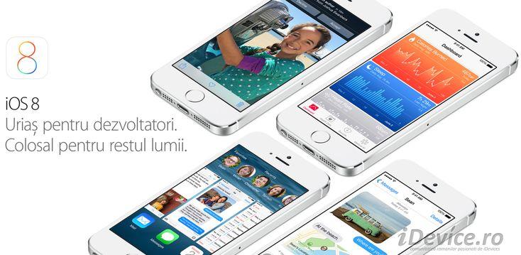 iOS 8 – Health, Siri, Mesaje, Poze, Mail, Safari, tastaturi terte, QuickType, Family Sharing, iCloud Drive – TOATE NOUTATILE