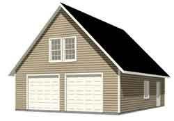 2 Car Garage Plans   Garage Plans By Behm Design oversized 2 car garage with loft - I joist ...