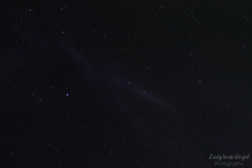 Purple Streaks(aurora) by LadySnowAngel Photography