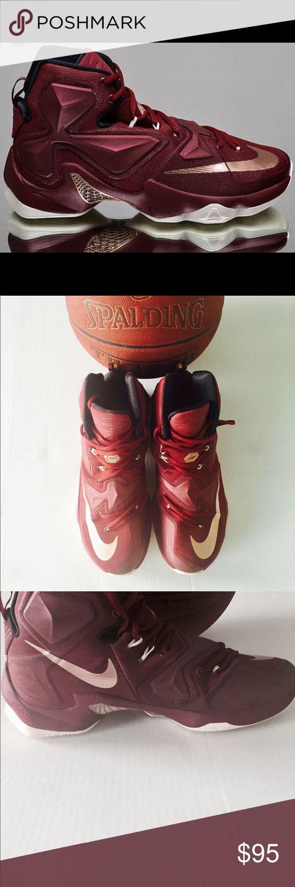 Nike Lebron X111 Nike Lebron X111 basketball 🏀 sneakers. Men's 10. Hardly used. Burgundy Nike Shoes Sneakers