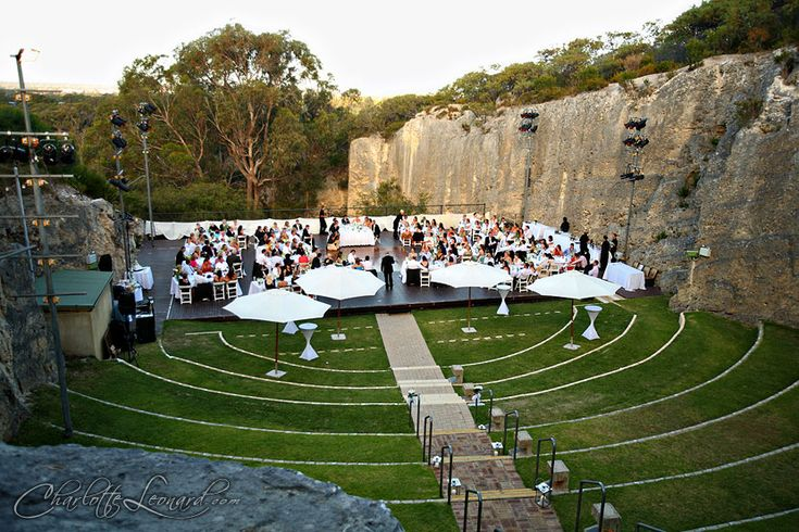 Wedding Reception at The Quarry Amphitheatre, Perth - Wow what a setting!