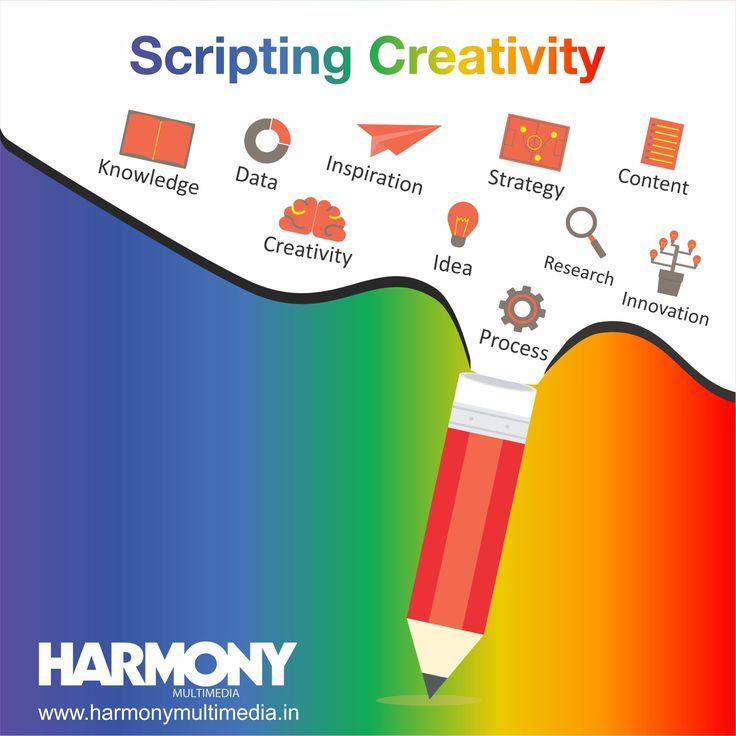 Scripting Creativity #HarmonyMultimedia #Creativity #Knowledge #Data #Inspiration #Strategy #Content #Idea #Research #Innovation #Process