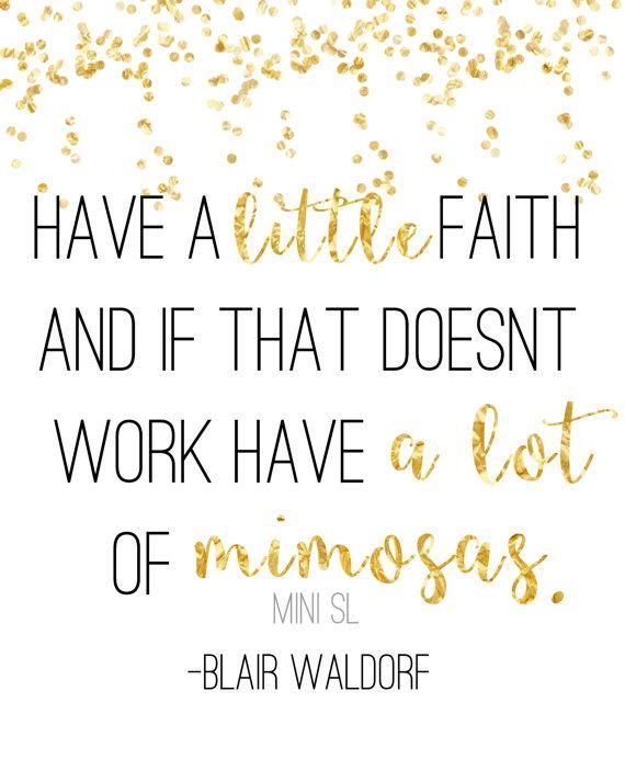 Blair waldorf gossip girl mimosas instant download print by MiniSL