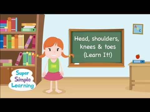 """Super simple version of """"Head Shoulders Knees & Toes (Learn It)"""" to review parts of the body before singing along with the """"Sing It"""" version!"""
