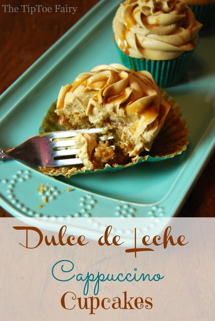 Dulce de Leche Cappuccino Cupcakes | The TipToe Fairy