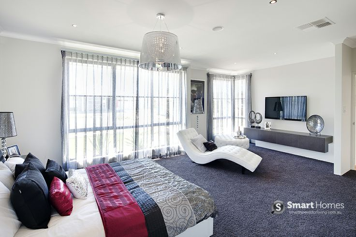 master bedroom with spacious retreat home design #mastersuite #smarthomesforliving