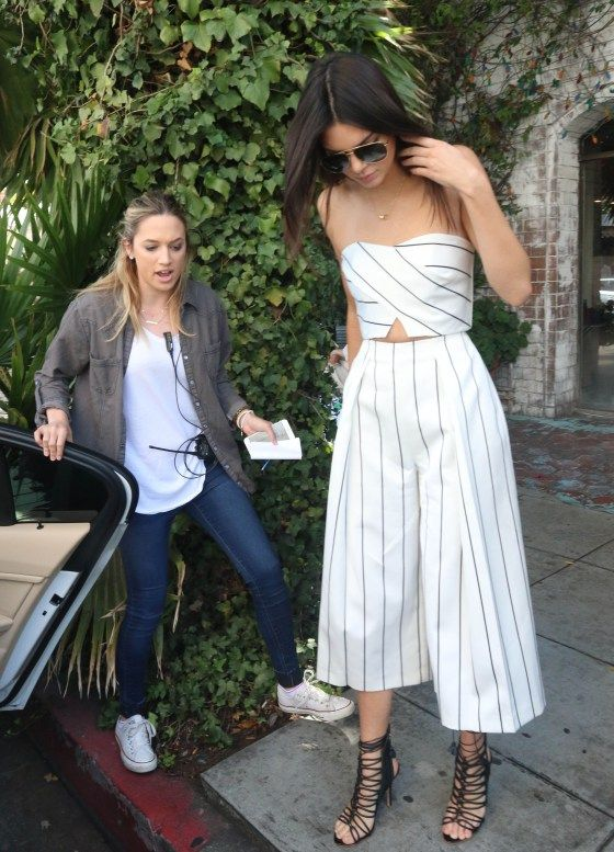 Where to Get Kendall Jenner's Striped Crop Top and Culottes | StyleCaster