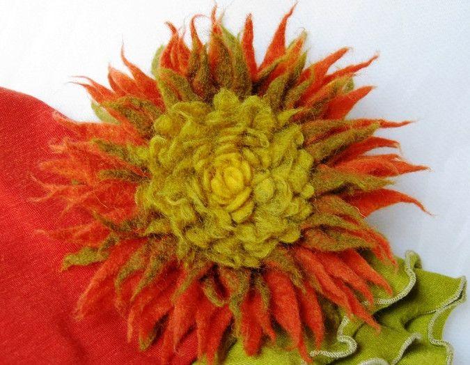Как самой сделать цветы: красивая календула из шерсти