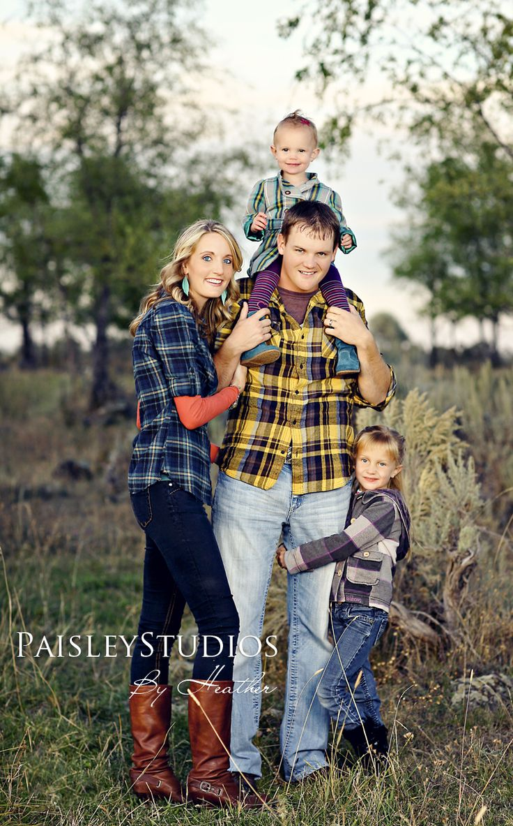 Cute family, but... Plaid = no. It detracts from this family. You see the plaid instead of the sweet faces.