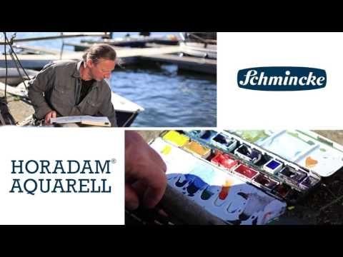 Schmincke Aquarell Tutorial mit Jens Hübner: Malen einer Seelandschaft - YouTube