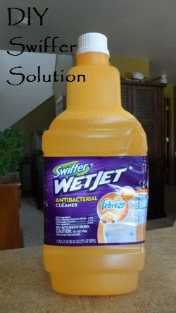 Why buy replacement pads and cleaning solution for your Swiffer mop when you can make your own for pennies?