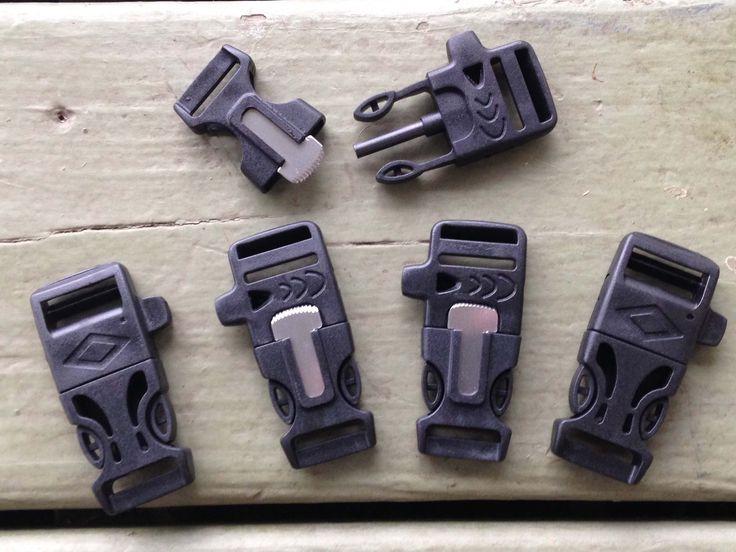 "3/4"" Flint Firesteel Whistle Paracord Buckles for Paracord Bracelets 1 – Stockstill Outdoor Supply"