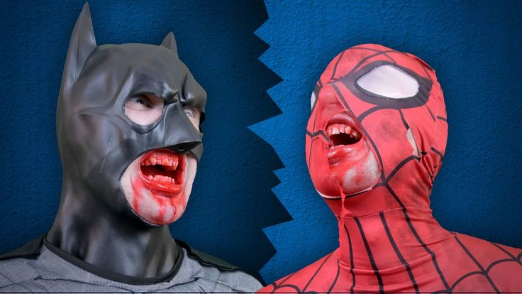 Spiderman and Batman Zombies In Real Life with Superman and Flash Justic...