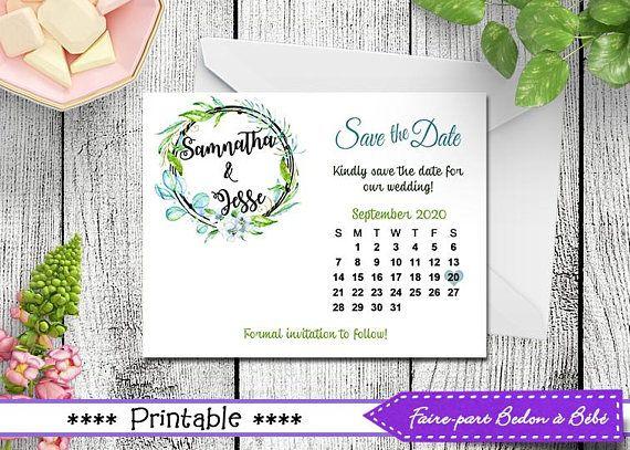Printable Save-the-date Post Card  Save-the-date printable
