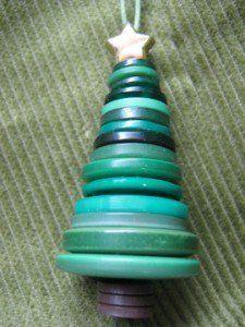 12 décorations de boutons! Noël en boutons!