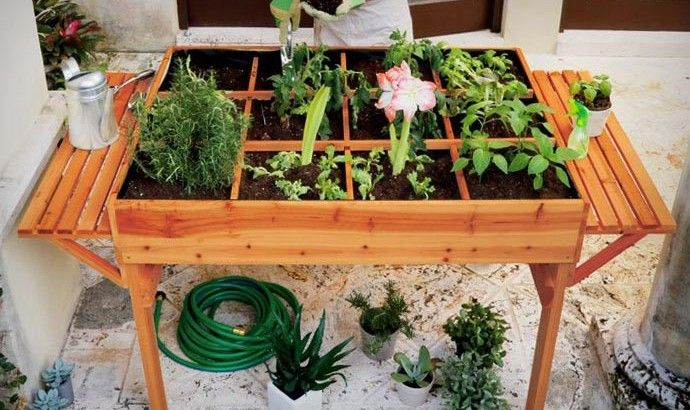 Organic Garden Table Things I Want To Create Pinterest